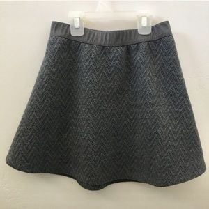 Candie's Gray Patterned Skater Skirt XS